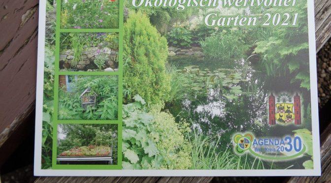 1. Platz beim Wettbewerb ökologisch wertvoller Garten